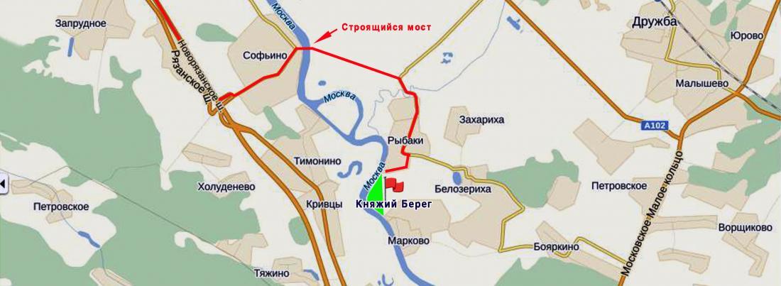Княжий Берег. утвержден и уже ведутся подготовительные работы по строительству ЦКАД в Раменском районе...